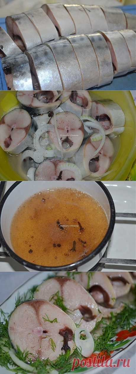 Mackerel, marinated in apple cider vinegar with spices