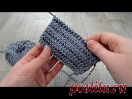 Простой плотный узор со снятыми петлями. Вязание спицами Для кардигана, джемпера, шарфа