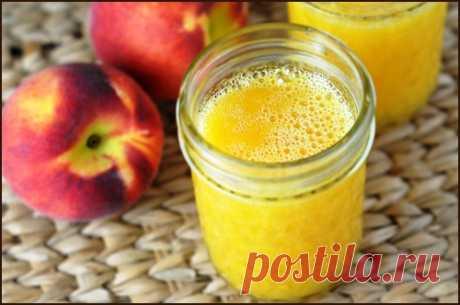 Персиковый лимонад - прекрасный тонизирующий напиток в жаркий летний день!