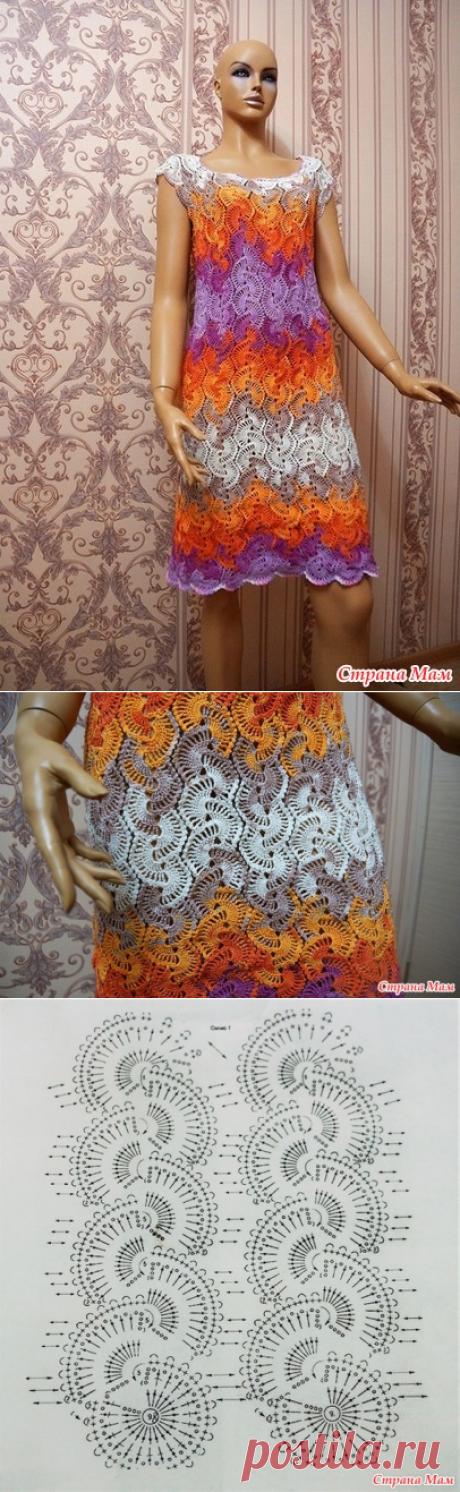 Летнее платье крючком - Вязание - Страна Мам