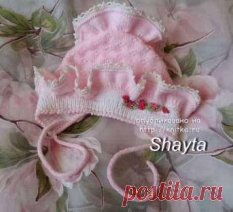Чепчик спицами, 35 схем и описаний для вязания новорожденному, Вязание для детей