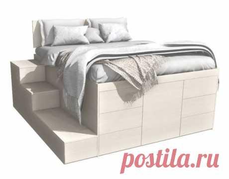 Кровать-комод в однушке. И гардеробная, и спальня одновременно.   тыквинлес   Яндекс Дзен