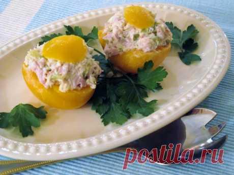 Los melocotones rellenados | la cocina Rusa