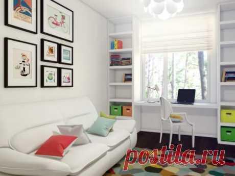 Дизайн детской комнаты 12 кв. м для двоих, для подростка мальчика или девочки | Дизайн и Фото | Яндекс Дзен