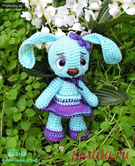 The hare of an obizhulka-kaprizulk hook \/ Knitting of toys \/ ProHobby.su | Knitting of toys spokes and a hook for beginners, master classes, schemes of knitting