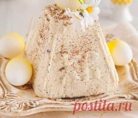 Рецепт творожной пасхи с кусочками шоколада - Пасха творожная от 1001 ЕДА
