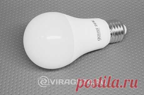 Лампа светодиодная A60 E27 20W 4100K, Gauss / Лампы светодиодные / Вираж