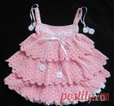Платье «Красавица саванна» крючком от Юлии Новиковой