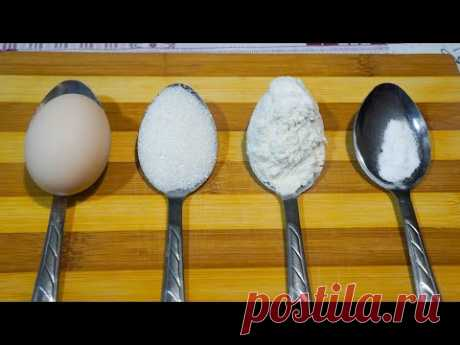 "Пирог ""4 ложки"". | Бюджетные рецепты | Яндекс Дзен"
