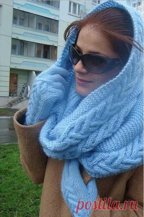 Японский шарф-трансформер: новый образ каждый день