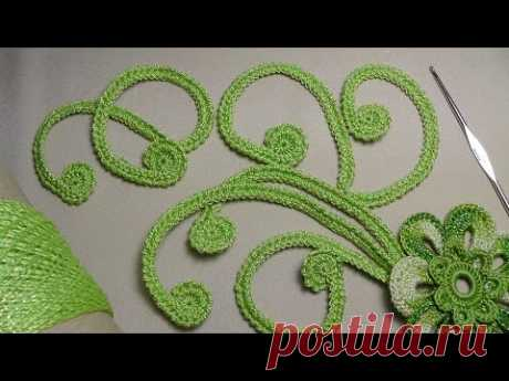 How to tie the CURL for the Irish lace - knitting by a hook for beginners - Irish lace