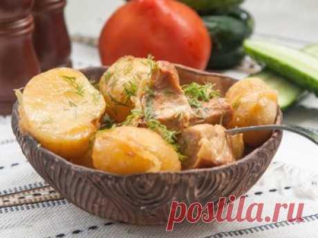 Молодой картофель со свининой в мультиварке - простой и вкусный рецепт с пошаговыми фото