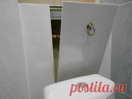 The secret hatch under a tile on magnets, the hands!
