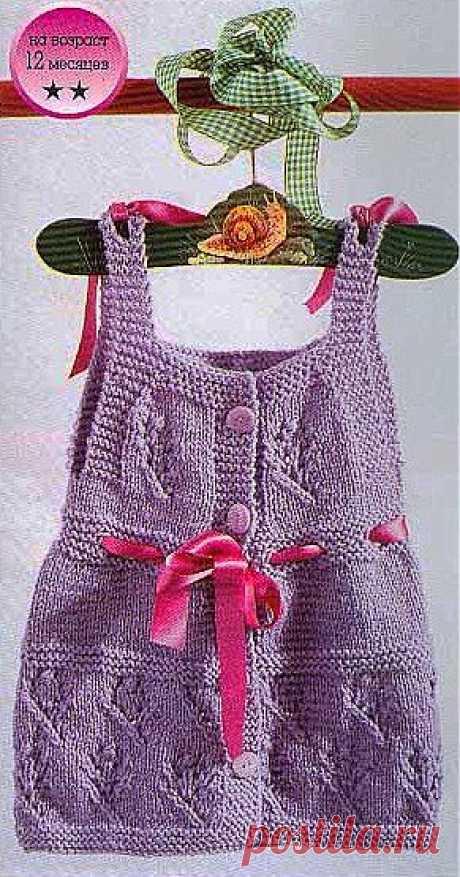 Летнее платьице с бантиками для вашей крошки.