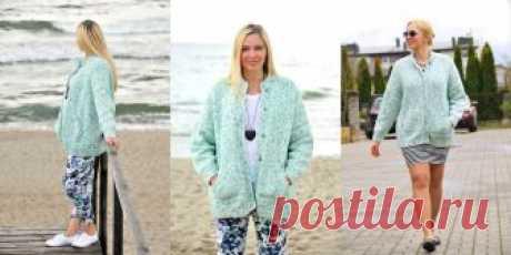 Вязаная куртка Old Paint Вязаная куртка спортивного стиля с накладными карманами, спущенным плечом, кнопками и большой свободой облегания из толстой пряжи
