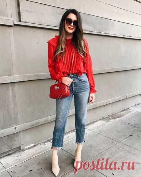 Яркие образы с акцентным красным цветом — Модно / Nemodno
