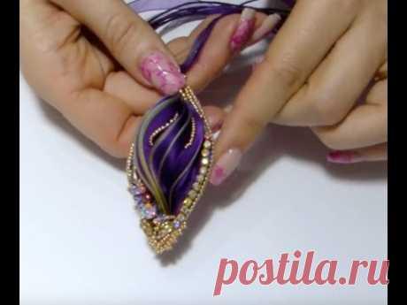 creazioni perline seta shibori e catena strass gioielli fai da te beadwork handmade