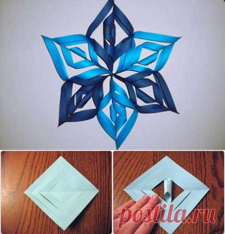 Как сделать снежинку из бумаги? Как вырезать красивую снежинку? | Поделки из бумаги!
