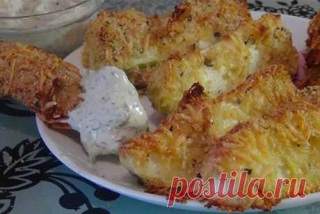 Изумительные кабачки в сырной панировке  Молодые кабачки с сырной корочкой, да еще и приготовленные в духовке - восхитительное блюдо! Просто, аппетитно, низкокалорийно, нежно, вкусно и полезно!!!  Ингредиенты: мука — 200 грамм; твердый сыр — 200 грамм; кабачок — 2 штуки; яйцо — 1 штука; панировочные сухари — 3 столовые ложки; перец молотый душистый; прованские травы; соль.  Приготовление:  Взять два средних кабачка. Обязательно помыть, обсушить бумажным полотенцем и снять ...