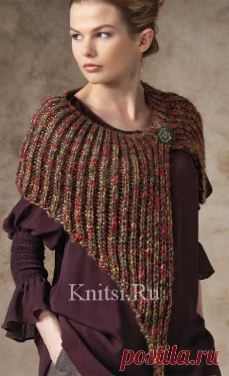 Вязаная накидка. Вязание для женщин / Пончо и накидки / Спицами
