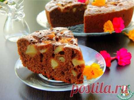 Шоколадная шарлотка с грушами в мультиварке Кулинарный рецепт