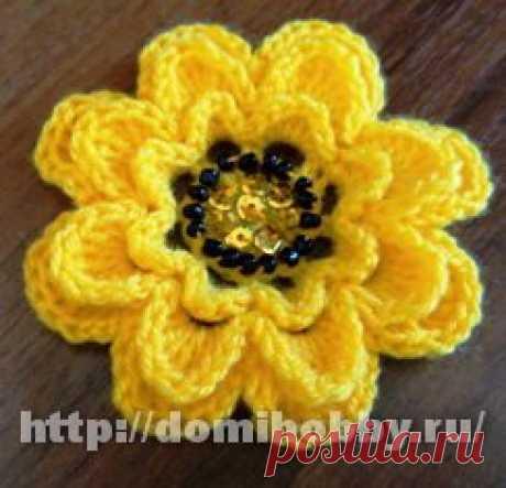 Цветок с листиками