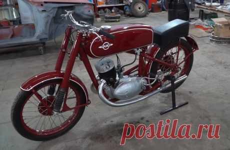 Малоизвестный советский мотоцикл, работавший на авиационном бензине. ИЖ-54.