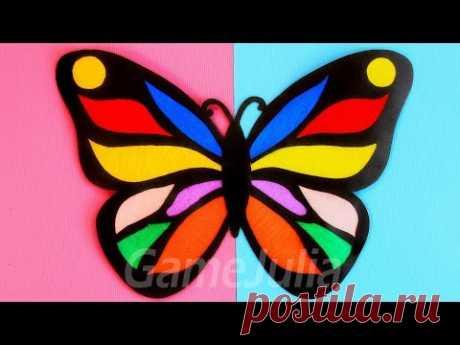 Потрясающая Бабочка Витраж / Декор своими руками