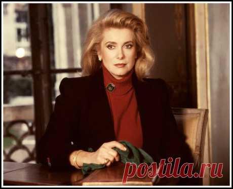 Catherine Deneuve, photo by Marianne Rosenstiehl, September 17, 1986
