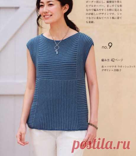 Стильные японские модели вязаных топов. | Asha. Вязание и дизайн.🌶 | Яндекс Дзен