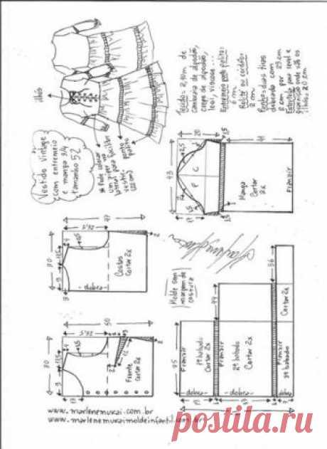 Запись на стене Выкройка летнего романтичного платья, размеры евро✂ Источник указан на фото#шитье #выкройки #кройка #идеи #моделирование #sewing #patterns #рукоделие #handmade #sewinglessons