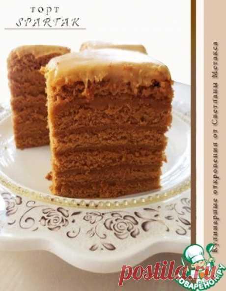 """Спартак&quot cake; with scalded caramel cream - the culinary recipe"