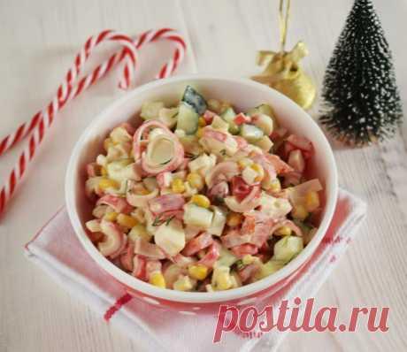 La ensalada tierna de centolla - las recetas Simples Овкусе.ру
