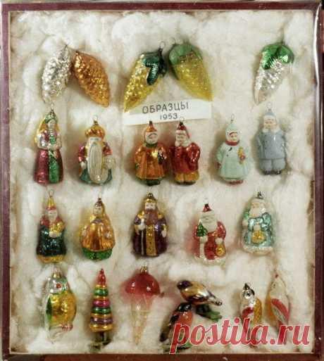Елочные игрушки 1953 года