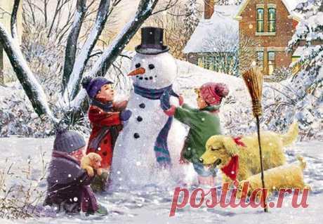 Коллекция картинок: Снеговички и мишки от D.R. Laird