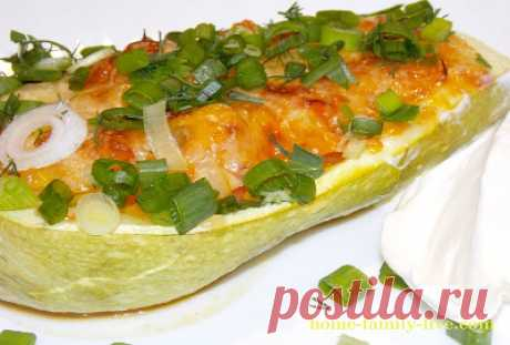 Кабачки фаршированные овощами/Сайт с пошаговыми рецептами с фото для тех кто любит готовить