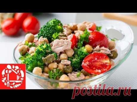 Простой Рецепт Вкусного Салата. Салат с тунцом и овощами без майонеза