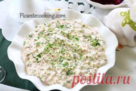 Татарський соус (Sos tatarski) Чудовий татарський соус в польській інтерпретації, який в трохи іншому вигляді називається соус тартар.