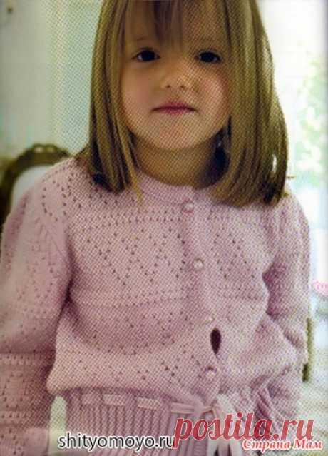 La blusa rosada a la muchacha, vinculado por los rayos. La descripción + el esquema - la Labor de punto para los niños - el País de las Mamás