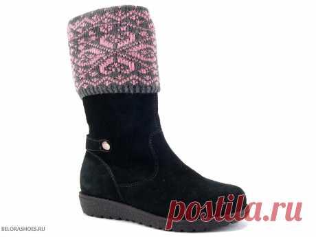Сапожки школьные Неман 62085, велюр - детская обувь, обувь для девочек, сапоги. Купить обувь Неман