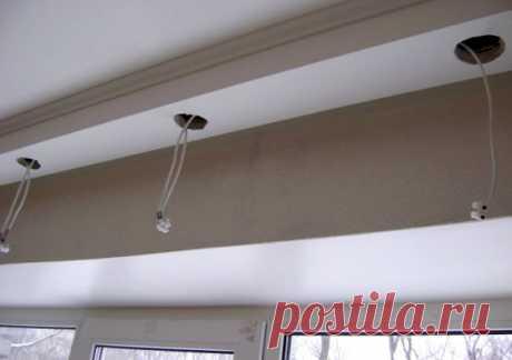 Установка точечных светильников в потолок своими руками