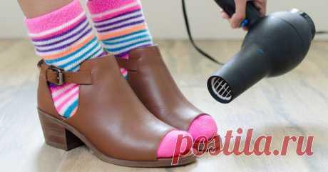 Присыпка от скрипа, прокладки от пота и еще 14 лайфхаков по уходу за обувью Так часто бывает: в магазине туфли хорошо смотрятся и удобно «сидят» на ноге, а дома оказывается, что они и жмут, и натирают, и носить их вообще невозможно. К счастью, у нас есть эффективные решения для большинства проблем с обувью. Отказываться от любимой пары не придется!