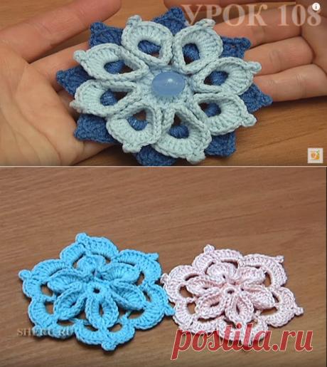 Irish lace. Motives - Volume flowers