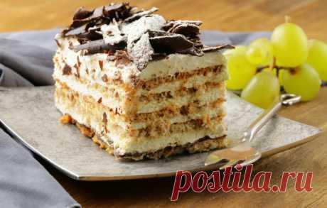Быстрый тортик из печенья