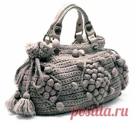 Вязаная сумка как у Анжелины Джоли крючком – 3 схемы с описанием вязания