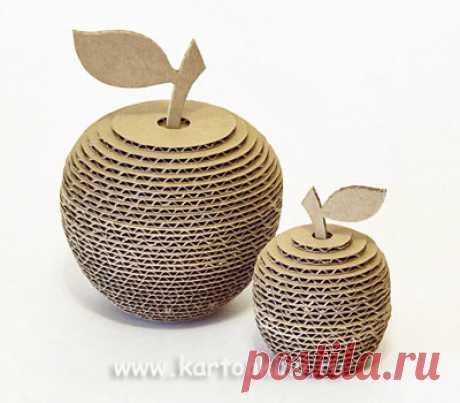3D яблоки из картона: игрушки, модный декор, сюрприз и ...