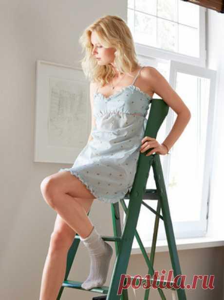 Ночная сорочка - выкройка № 124 из журнала 12/2014 Burda – выкройки ночных рубашек на Burdastyle.ru