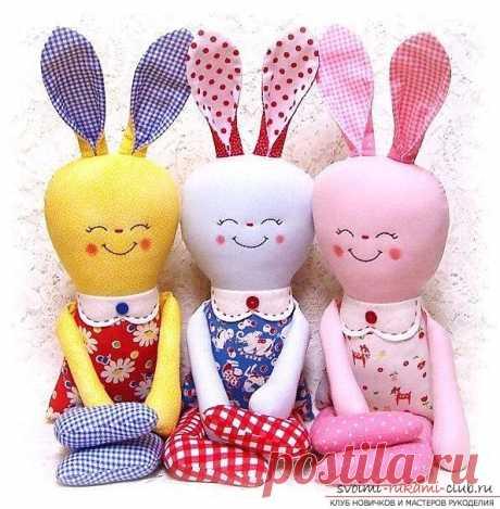 Выкройка игрушки зайца - это дверь в мир красивых и милых вещей 19 фотографий