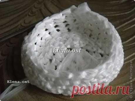 Шляпки из полиэтиленовых пакетов (идея для декора!)