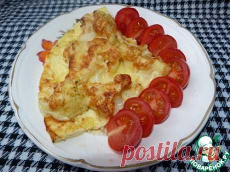 Цветная капуста под яйцом и сыром - кулинарный рецепт